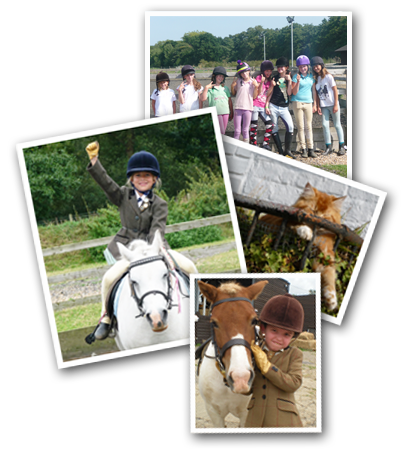 Children Horse riding at Weybridge Equestrian Centre